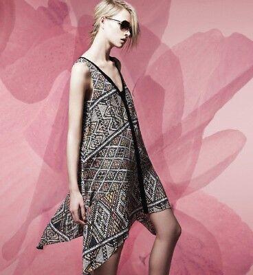 Neu Damen Bcbg Max Azria Tian Taschentuch Saum Kleid Korallenriff (Kleid Taschentuch Saum)