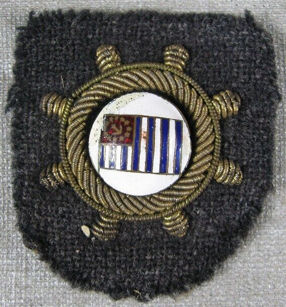 Antique Military Pin Patch Gold Wire Stars Anchor US Power Squadrons