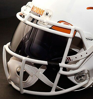 206919214b6  CUSTOM  TEXAS LONGHORNS NCAA OAKLEY Football Helmet EYE SHIELD   VISOR