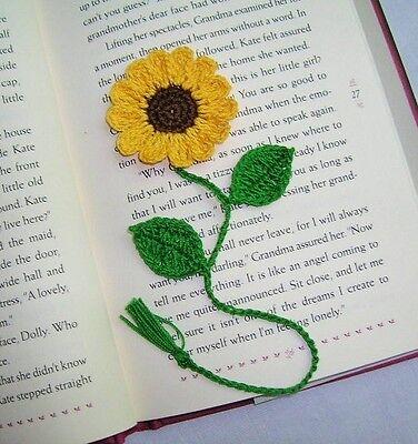 Bookmark Craft (Crochet  3D SUNFLOWER Bookmark Scrapbooking Crafts School Gift  FLOWERS)
