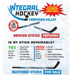 The Best in Composite Hockey Stick Repair & Skate Sharpening!