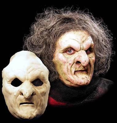 Witch Old Woman Halloween Mask Foam Latex Prosthetic Appliance Moves with Face](Old Woman Halloween Mask)