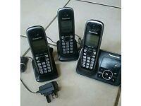 PANASONICKX-TG6623EB Cordless Phone with Answering Machine - Triple Handsets