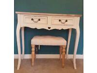 Bentley Designs 2 drawer Chalk oak dresser (& optional chair)
