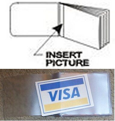 USA Quality 8 Page Vinyl BiFold Wallet Insert For Pictures Credit Card FAST -