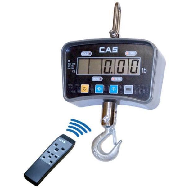 CAS IE Series Heavy Duty Crane Scale 100X 0.05 LB, LCD, Hoist, Remote,Brand New