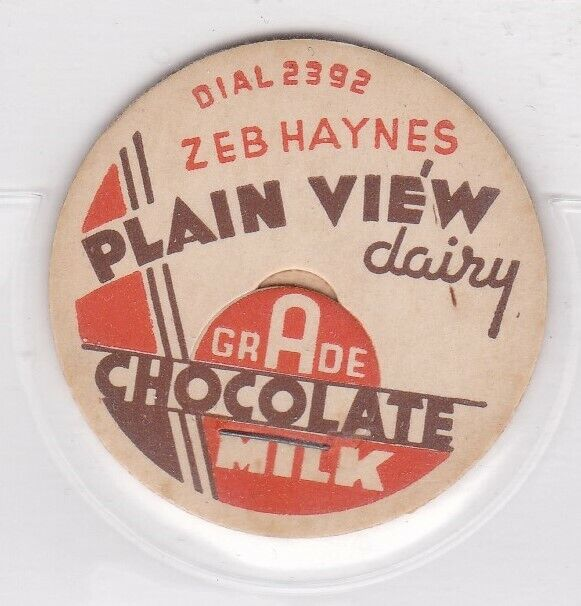 Zeb Haynes Plain View Dairy Milk Cap-Maiden, North Carolina - $9.99