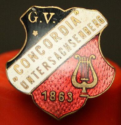 Gesangsverein Concordia Untersachsenberg 1863 Anstecknadel Pin Abzeichen [V141]