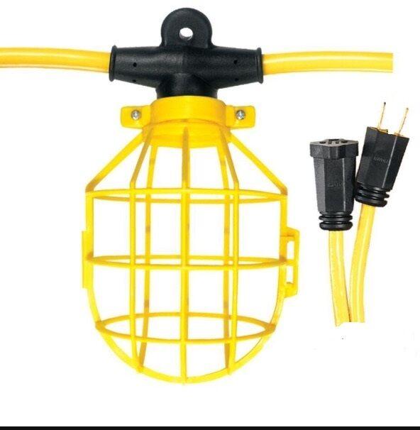 Construction string lights 100f