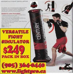 PUNCHING BAG, (CENTURY FREE STANDING) 270 LBS BASE WHEN FILLED, 3 ADJUSTMENT 40%OFF (905) 364-0440 WWW.FIGHTPRO.CA