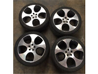 "VW GOLF GTI MONZA 18"" ALLOY WHEELS and Tyres - 5x100 225/40/18"