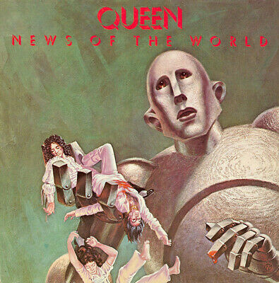 """QUEEN - NEWS OF THE WORLD 12"""" VINYL LP NEAR MINT USED CONDITION"""