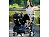 3 items. Britax Römer b-agile double pushchair and car carry system