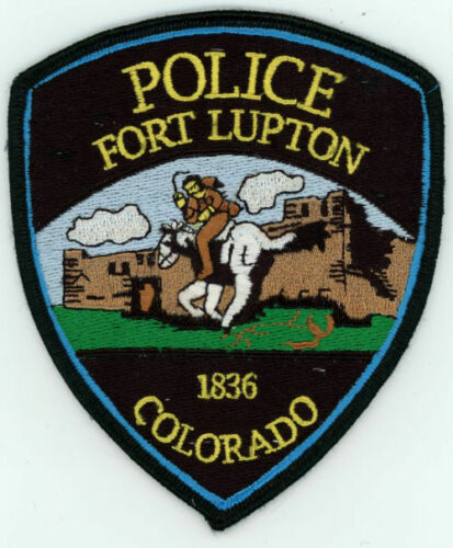 FORT FT LUPTON COLORADO CO POLICE COLORFUL PATCH STYLE #1 SHERIFF