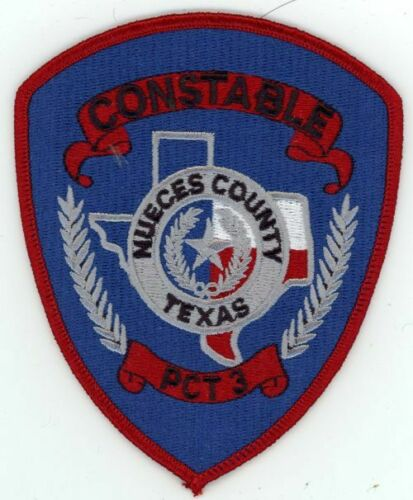 NUECES COUNTY TEXAS TX CONSTABLE PRECINCT 3 NEW PATCH POLICE SHERIFF