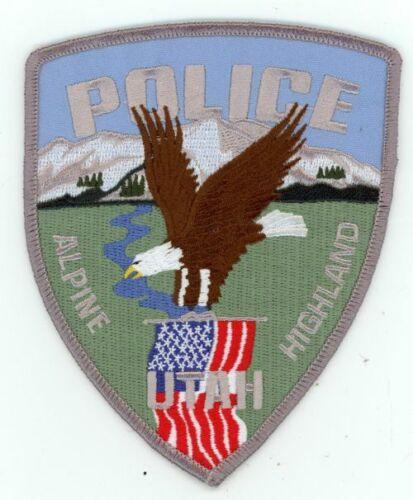 ALPINE HIGHLAND UTAH UT POLICE NEW PATCH SHERIFF