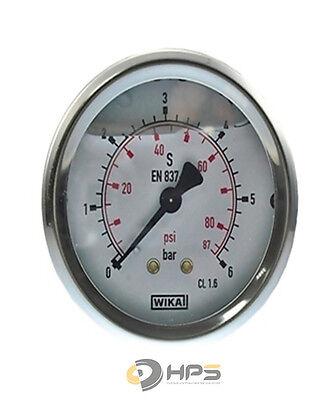 Wika Manometer (WIKA Glycerin Vakuum und Manometer Ø63 RA verschiedene Typen Hydraulik Druckluft)