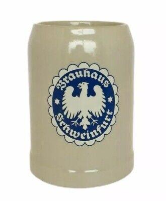 Brauhaus Schweinfurt Vintage Beer Mug Stein Made In Germany .5 Liter