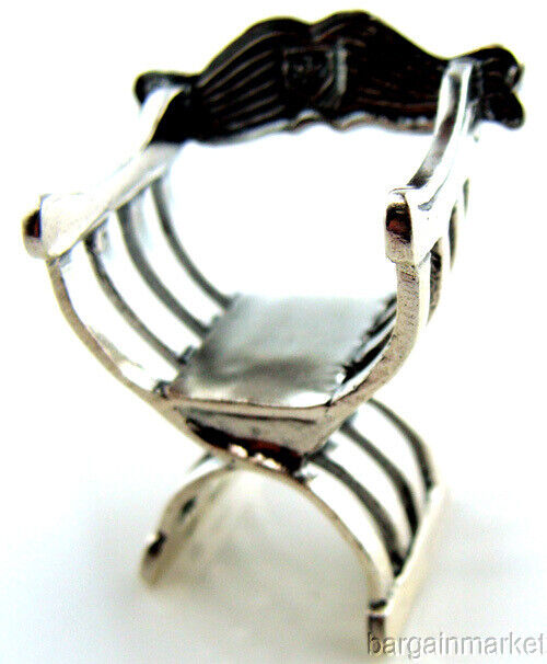 Roman Style Sterling Silver Miniature Directors Chair #277