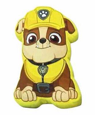 paw patrol escombros personaje cojn de forma de impresin amarillo suave nios chicos para nios