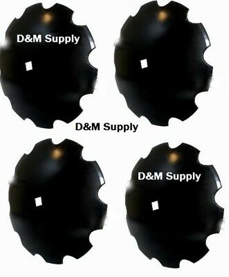4 Pack Disc Harrow Blade 18 Notched Fits 1 - 1 18 Axle Fits Many Brands