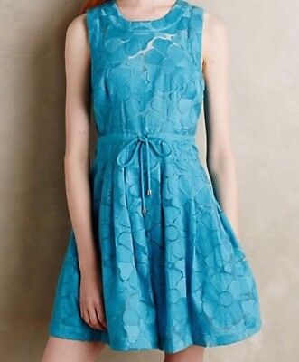 - Plenty Tracy Reese Del Mar Fit & Flare Floral Lace Party Dress Turquoise Size 10