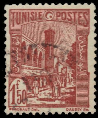 "TUNISIA 102B (Mi246) - Tunis Mosque ""1946 Red Brown"" (pa38145)"