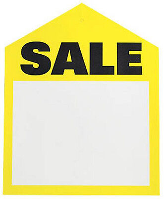 25 Yellow Oversized Large Sale Price Tags Labels 6 X 7-12 Pre-punched Hole