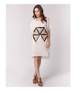 CAMEO KAFTAN DRESS CREAM AND GOLD SEQUINS - BRAND NEW WITH TAGS Curl Curl Manly Area Preview