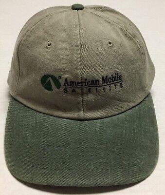 Vtg American Mobile Satellite Hat Reston Virginia Baseball Cap Communications VA