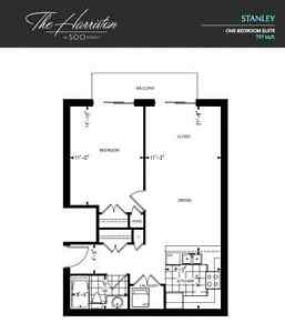 One bedroom at the Harriston – lease takeover February 1st