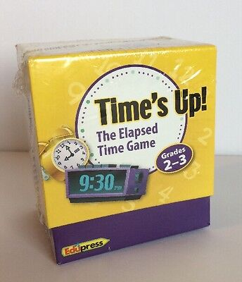 Time's Up! The Elapsed Time Game Teacher Educational Tool Kids Grades 2-3 Elapsed Time Game