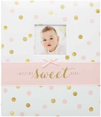 CR Gibson Loose Leaf Memory Book~Sweet Sparkle~ Baby Girl Keepsake First 5 Years Cr Gibson Loose Leaf