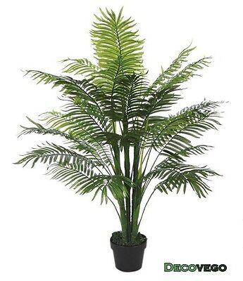 Palmizio Palma Pianta Albero Artificiale Plastica 130cm Decovego