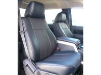 MINICAB CAR LEATHER SEATCOVERS FORD GALAXY FORD MONDEO FORD FOCUS FORD TRANSIT CUSTOM