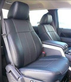 LEATHER CAR SEAT COVERS FORD TRANSIT CUSTOM VAUXHALL VIVARO RENAULT TRAFFIC MERCEDES VITO