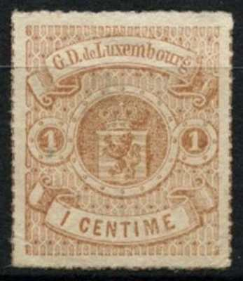 Luxembourg 1865-1875, 1c Rouletted In Colour Unused No Gum #D75188