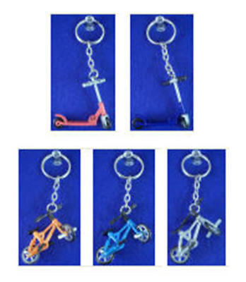 EXTREME SPORTS X GAME KEYCHAINS ZIPPER PULL BIKES & SCOOTERS MINI CAKE TOPPERS