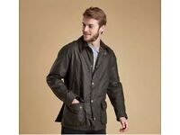 Men's Barbour Ashby Wax Olive Jacket Size Medium BNWT