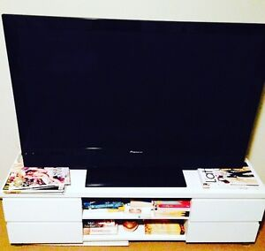 White TV Cabinet - Pick Up Only Woolloomooloo Inner Sydney Preview