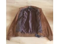 Men's Fashion designer brown faux suede Italian type jacket - Made in Italy label - new