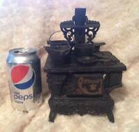Vintage Miniature Cast Iron Wood Burning Stove Fredericton New Brunswick Preview