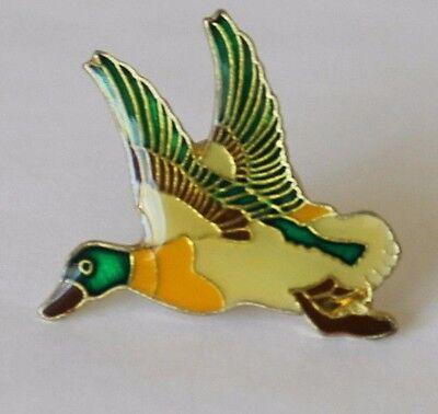 Mallard Flying Duck Lapel Hat Pin Animal Tie Tack Goose Bird Wildlife Wetlands