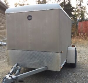 SOLD - Enclosed cargo (camping) trailer – $2,650