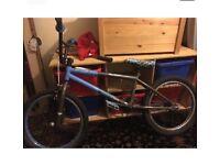 Mongoose expert bmx stunt bike blue and grey