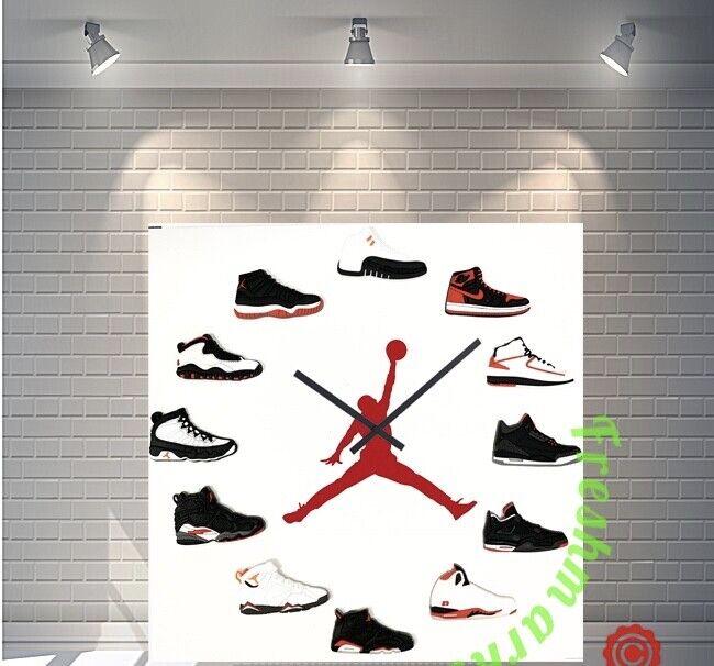"New 12"" 2d jordan 1-12 sneaker quartz clock nike supreme off ow hype us"