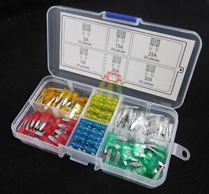 120pcs Auto Car Mini Blade Type Fuse Assortment 5A 10A 15A 20A 25A 30A Amp