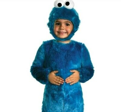 Cookie Monster Halloween plush Costume Toddler Baby 3T 4T Sesame Street soft new
