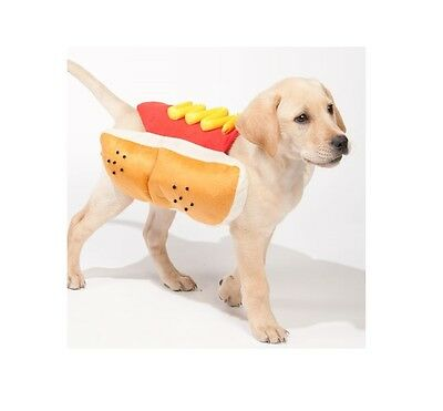 Hot Dog Pet Halloween Costume for Dog - M - XL - party - photo - trick or treat  - Hot Dog Halloween Treats