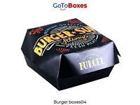 Get Burger Boxes Wholesale with Printing